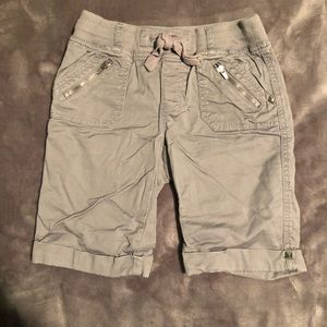 Girls Gray Justice Bermuda Shorts.  Size 12S.